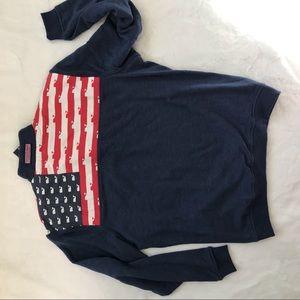 Vineyard Vines medium USA shep shirt flag NEW